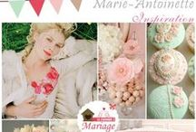 thème mariage : Marie-Antoinette / thèma mariage Marie-Antoinette
