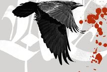 As the Crow Flies / Crows are intelligent and creative. They are fond of bright baubles, some say. Maybe it is just  that their eyesight is as keen as their minds.