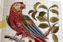 Needlework Birds