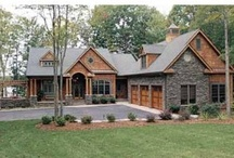Exterior Home Image Ideas / Exterior elevations of Craftsmen or Arts & Crafts or Cottage or Lodge style homes.   Detail images of garages, entries, trims, windows, doors, stone, siding, etc.