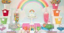 Rainbow Party Ideas / Rainbow party ideas