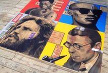 Xavier Célanie - Portrait - peintures / Xavier Célanie  artiste peintre / graphiste  Portraits photo réalistes sur cartons http://www.xaviercelanie.com