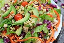 Healthy Salads / Also known as what to do to make plant leaves actually taste good.