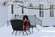 Winter Holidays in New England / Winter holidays are festive here in New England.