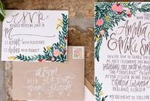 Invitations + Paper / A collection of pretty invitations and other paper goods.