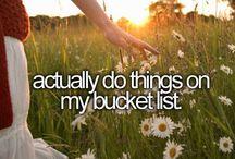 bucket list/travel dreams <3