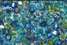 Moon River / Moon river, wider than a mile -  I'm crossing you in style some day -  Oh, dream maker, you heart breaker -  Wherever you're goin', I'm goin' your way.   Watery greens and blues inspired this Crystal Bicone Mix. / by Rings & Things