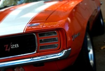 """American Muscle / I grew up during the muscle era owning a 1970 Chevelle SS 454 L6 my senior year in high school. Friends drove Z28's, SS's, Mach 1's, Chargers, and Cuda's. Those were the day's. We played a cat and mouse game where someone would randomly bolted like a bat out of hell trying to loose the rest of the pack, while everyone else just tried to keep up staying in sight of the """"mouse"""". How we all lived through that I'll never know... just being teenagers living life to the fullest.  / by Kerwin Schetter"""