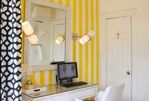The Dream Office  / Essential pieces for my future dream office, to be decorated in bright yellow/mustard-ish colors, with accents in turquoise.  / by Marnely Rodriguez-Murray
