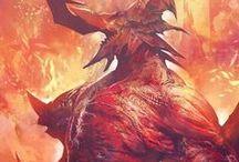 Monsters / Ilustrações de monstros