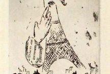Marc Chagall Art / Source Marc Chagall artworks at http://www.printed-editions.com/post-war-prints/marc-chagall