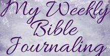 Bible Journaling - The Beautiful Word Coloring Bible, NIV / The pages I colored in The Beautiful Word Coloring Bible.  #weeklyBiblejournaling