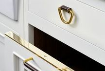 Waterworks Hardware / Waterworks Hardware collection is a well rounded assortment to select from to include knobs, pulls, appliance pulls, handles, hinges, latches and dish towel bars, all in multiple sizes.