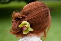 Bridal Style: Hair / Bridal Hair Styles from curls, to buns, to straight, to up, to loose waves to a mixture of all.
