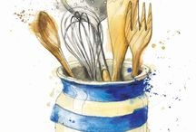 Food illustrated / by Brico Idea
