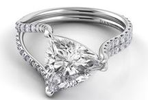 You're So Fancy / We love seeing our handcrafted engagement rings with a fancy-shaped diamonds.