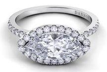 Halo Halo Halo / Do you love a halo of diamonds around the center stone? We do.