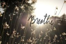 | Breathe | / Life unfolds in the spaces between your breath. Take a moment, breathe.
