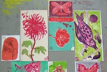 Cutting and Sticking / Drawing, painting, cutting, sticking- sketchbook.