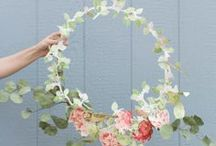Papery eventing / Events, bridal flowers, table centres, finishing touches, showy props.