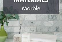 Marble / Like many metamorphic rocks, marble is a dense natural stone making it extremely durable in dry conditions. Most commonly seen with a highly polished finish, its elegance lends itself well to opulent modern architecture.