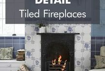 Tiled Fireplaces / Not sure how to tile your fireplace? We've compiled some inspiration to help guide you.