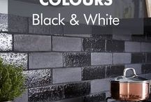 Black and White / An on-trend hue for 2017, some find black overwhelming and don't know how to use it in the home. Be inspired to incorporate black into your interior.