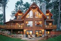 Lodges, Log Homes & Cabins / by Deborah McCroskey