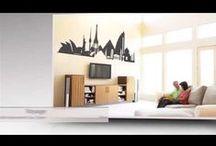 Living room ideas / wall art, living room, decoration, interior, home, art, renovate, stickers