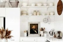 Kitchen / Kitchen inspiration... often white, lots of natural light, clean, modern lines with touches of warm wood.