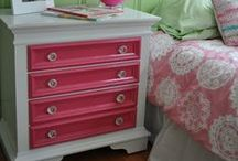 """paint me purdy / upcycled, repainted furniture and old """"junk"""" / by Laura Levin"""