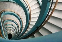 Stairway of Imagination / Beautiful stairways are a road through imagination and beauty. They are one of my most favorite architectural design elements. #creative #beauty