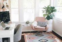 Office Space / Office space, feminine office, office decor, home decor, workspace, home office