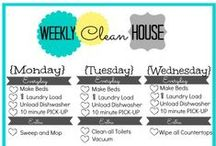 Get my clean on / I love reading tips & tricks on how to clean more easily!