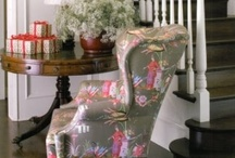 chair love - love to put my bottom here / red painted argyle chair, red spray painted chair, all chairs I love