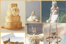 Gold Wedding Ideas / by @MadeWithLoveDesigns Clare Fletcher