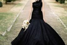 Black Wedding Ideas / by @MadeWithLoveDesigns Clare Fletcher