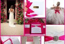 Fuchsia Pink Wedding Ideas / by @MadeWithLoveDesigns Clare Fletcher