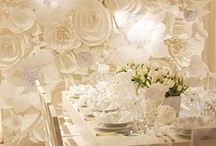 White Wedding Ideas / by @MadeWithLoveDesigns Clare Fletcher