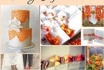 Orange Wedding Ideas / by @MadeWithLoveDesigns Clare Fletcher