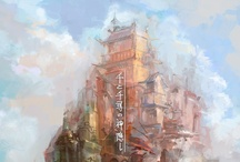 Art: Scenery / Scenery from various media. This board features everything, from middle art fantasy views to sci-fi modern sceneries. / by blind study