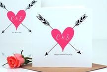 Our Valentines Day Cards / Personalised valentines cards with the luxury touch from Made With Love UK http://www.madewithlovedesigns.co.uk / by @MadeWithLoveDesigns Clare Fletcher