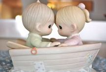 """Precious Moments / These darling little statures are just """"precious."""" I love their little faces that are so sweet and innocent.  / by Patrice (No Limits To Pins)"""