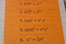 Algebra I Unit 7: Exponents / algebra: zero & negative exponents, product & power rules, quotient rules, scientific notation, operations with scientific notation, geometric sequences, exponential growth & decay