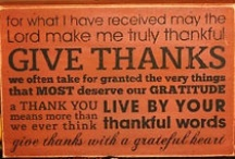 We Are Thankful For...