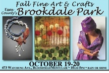 Fall Fine Art and Crafts at Brookdale Park 2013 / Fine art and fine crafts grace the 14th annual Fall Fine Art and Crafts at Essex County's Brookdale Park Show October 19-20 in Bloomfield/Montclair. Over 160 exhibitors from New Jersey and throughout the Northeast will exhibit their jewelry, furniture, glass, fiber, pottery, oils, watercolors, serigraphs, photography, leather, sculpture, wood and more. Enjoy speciality food vendors. Saturday and Sunday, 10am-5pm, rain or shine. Visit www.rosesquared.com for directions and more information.