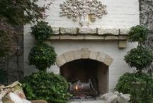 Inspiration-Fireplace Style / fireplaces, fireplace mantles, french country, french country decor, french decor, romantic decor, french country decorating, french home, home decor, cottage decor, french style, home decor, Swedish decor