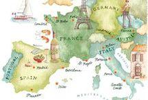 Travel & Maps Illustration