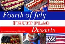 Memorial Day and 4th of July / fourth of july party, fourth of july decor ideas, fourth of july table setting, fourth of july food, memorial day bbq, memorial day food, memorial day decor, memorial day table, patriotic table, patriotic decor, patriotic party ideas