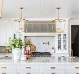 ! ~Kitchens-White~ ! / white kitchens, white kitchen inspiration, kitchen cabinets, painted kitchen cabinet, kitchen cabinet ideas, kitchen design,  traditional kitchen, French kitchen, cottage kitchen, farmhouse kitchen, modern kitchen, kitchen backsplash, kitchen counters,